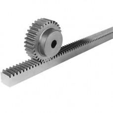 Прямозубая зубчатая рейка Geared rack M1 DIN8 straight (with holes) 3000mm